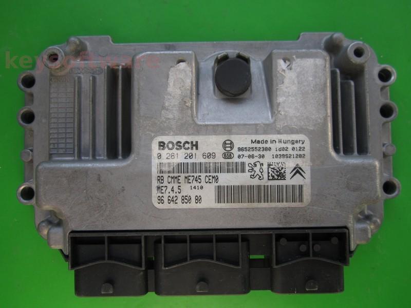 ECU Citroen C4 1.6 9664285080 0261201609 ME7.4.5