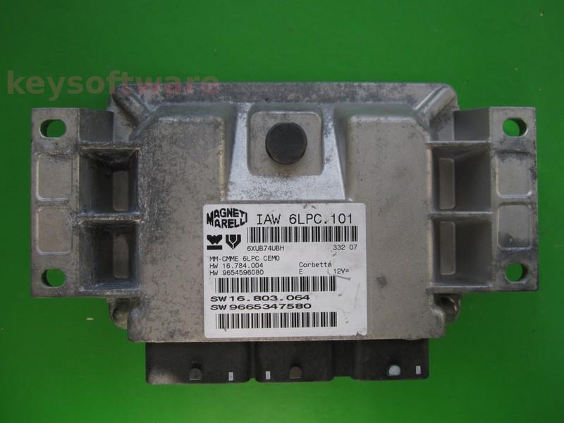ECU Citroen C3 1.4 9665347580 9654596080 IAW 6LPC.101