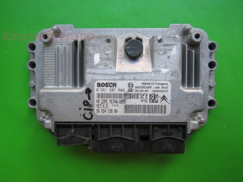 ECU Citroen C4 1.6 9665415880 0261201609 ME7.4.5 {
