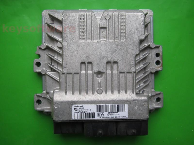 ECU Citroen Berlingo 1.6HDI 9678686080 S180075002L SID807