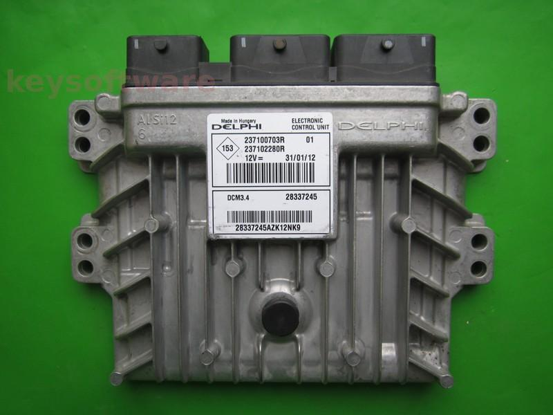 ECU Dacia Duster 1.5DCI 237102280R 237100703R DCM3.4