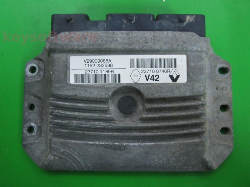 ECU Dacia Duster 1.6 237101189R 237100740R V42 {