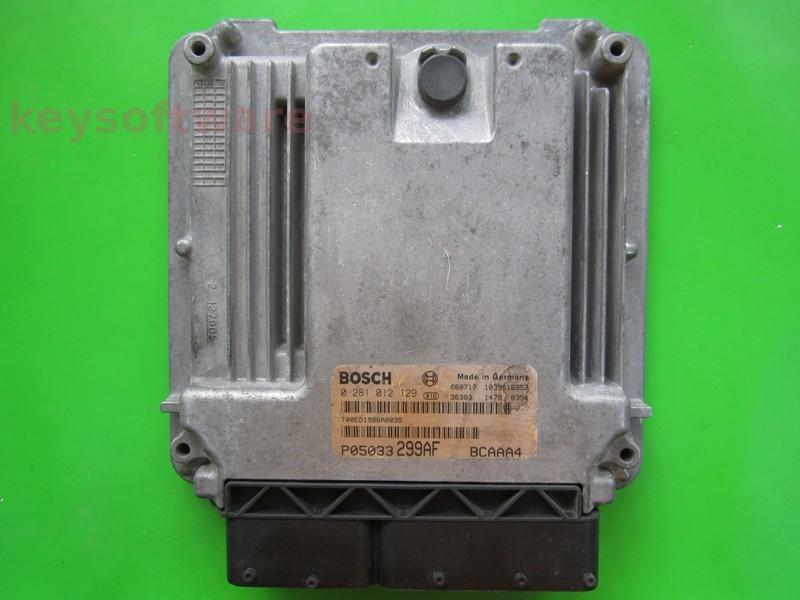 ECU Dodge Caliber 2.0CRD P05033299AF 0281012129 EDC16U31
