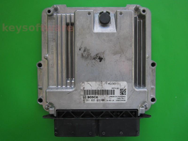 ECU Fiat Tipo 1.6 46338313 0281035022 EDC17C69