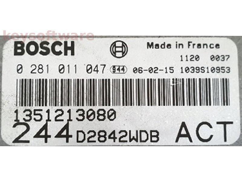 ECU Fiat Ducato 2.8JTD 1351213080 0281011047 EDC15C7 {