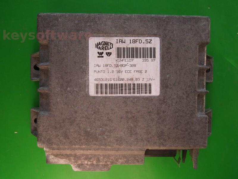 ECU Fiat Punto 1.2 46531216 IAW 18FD.5Z