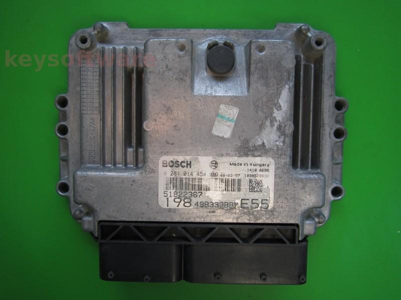 ECU Fiat Bravo 1.6JTD 51822367 0281014454 EDC16C39 {