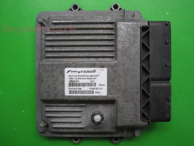 ECU Fiat Idea 1.3JTD 51826699 6JF.M4