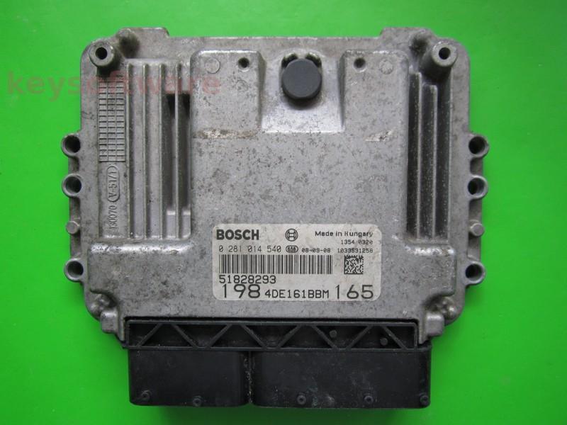 ECU Fiat Bravo 2.0JTD 51828293 0281014540 EDC16C39