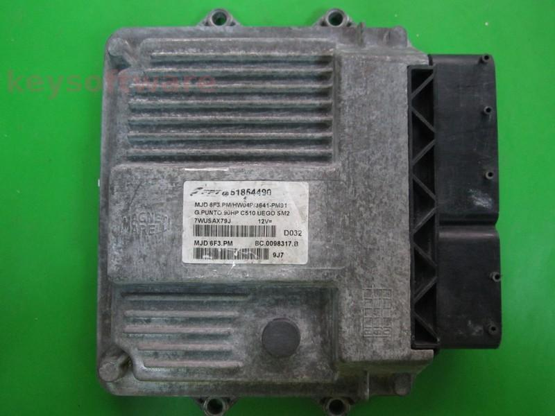 ECU Fiat Grande Punto 1.3JTD 51854490 6F3