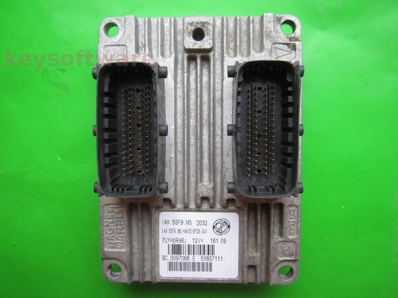 ECU Fiat 500 1.2 51857111 IAW 5SF9.MS