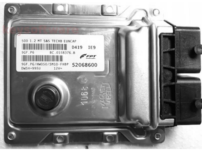 ECU Fiat 500 1.2 52068600 9GF.P6 {