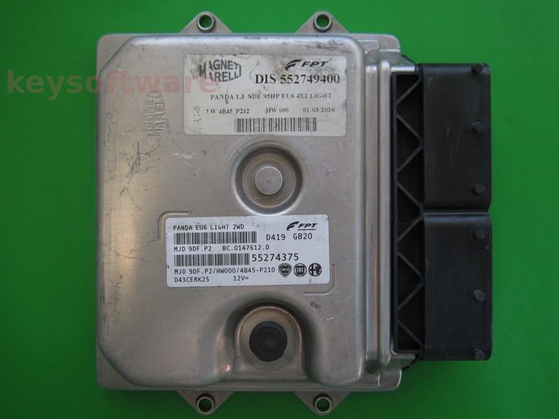 ECU Fiat Panda 1.3JTD 55274375 9DF.P2