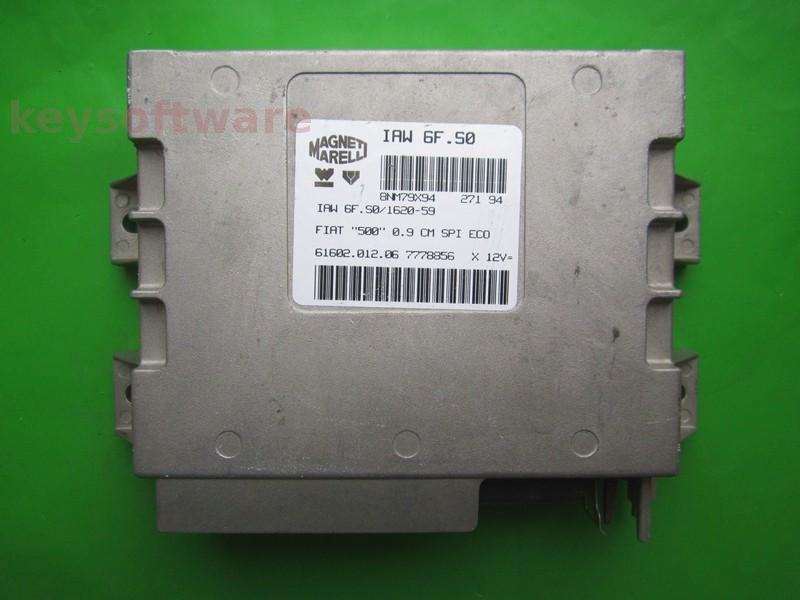 ECU Fiat 500 1.1 7778856 IAW 6F.S0