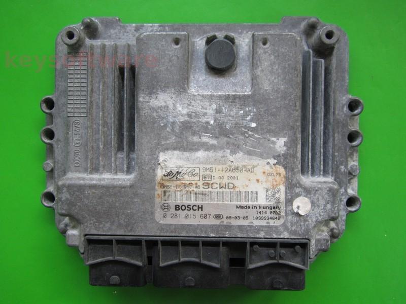 ECU Ford Focus 1.6TDCI 9M51-12A650-AD 0281015607 EDC16C34