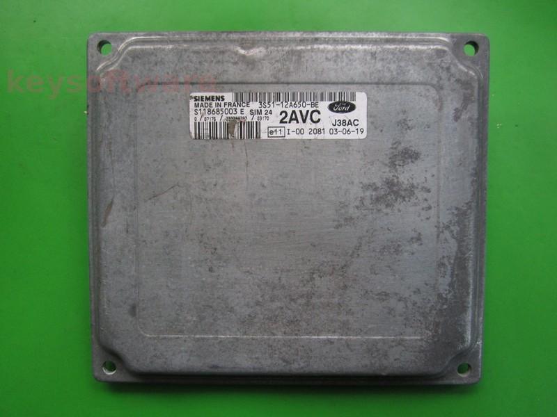 ECU Ford Ka 1.3 3S51-12A650-BE SIM24
