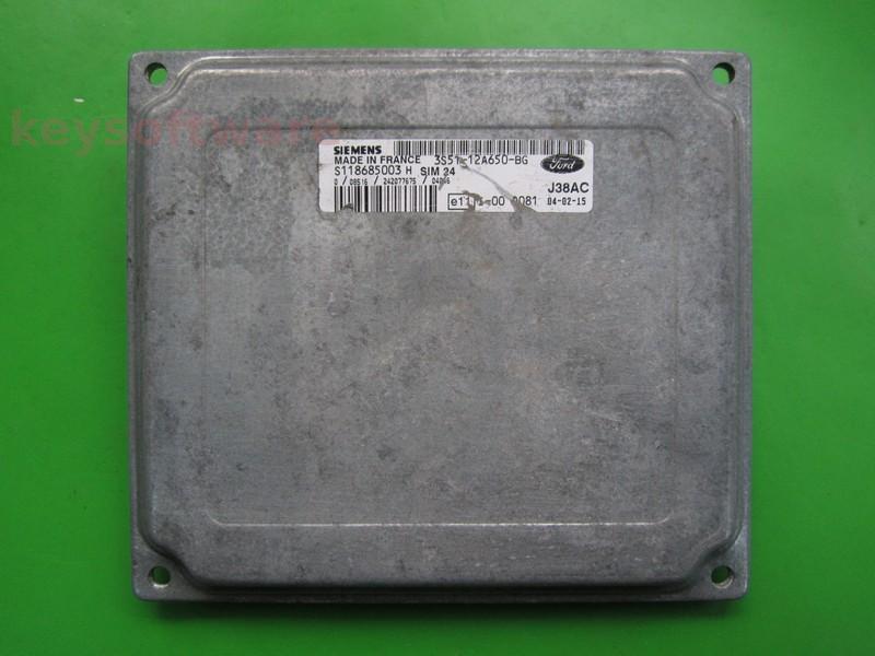 ECU Ford Ka 1.3 3S51-12A650-BG SIM24