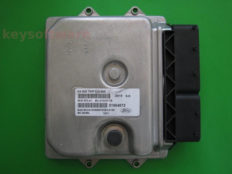 ECU Ford Ka 1.3 51904072 8F2.K1
