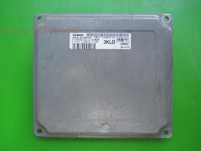 ECU Ford Focus 1.6 5M51-12A650-FD SIM28