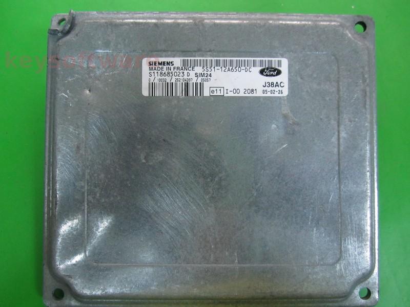 ECU Ford Ka 1.6 5S51-12A650-DC SIM24