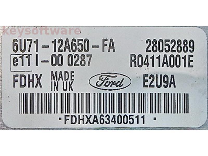 ECU Ford Mondeo 2.0TDCI 6U71-12A650-FA E2U9A {