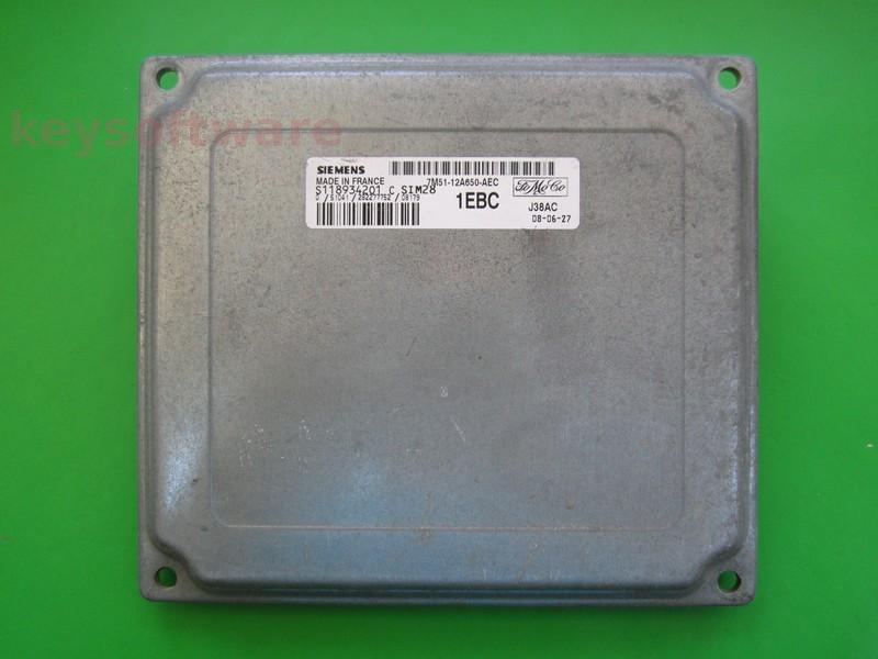ECU Ford Focus 1.4 7M51-12A650-AEC SIM28