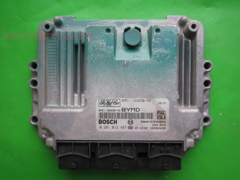 ECU Ford C-Max 1.6TDCI 8M51-12A650-MD EDC16C34 {
