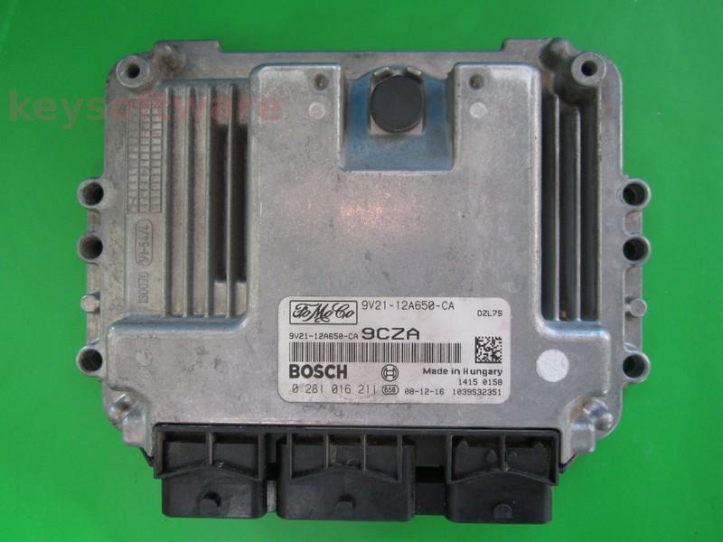 ECU Ford Fiesta 1.6TDCI 9V21-12A650-CA EDC16C34 {