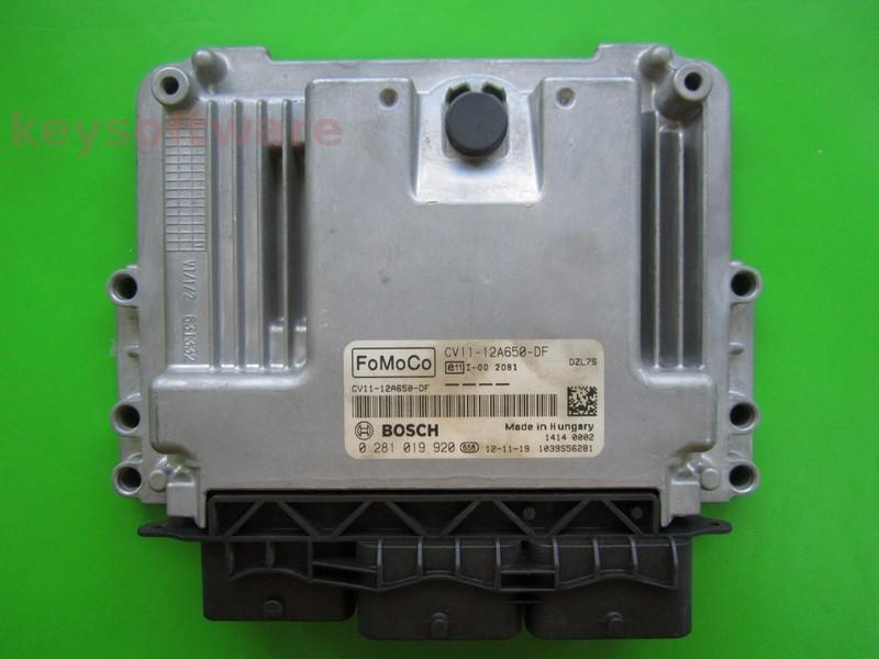 ECU Ford B-Max 1.6TDCI CV11-12A650-DF 0281019920 EDC17C10