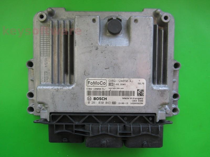 ECU Ford Focus 1.6TDCI CV6Q-12A650-AJ EDC17C10