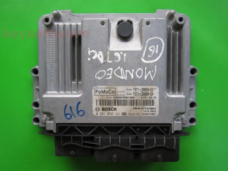 ECU Ford Mondeo 1.6TDCI FS71-12A650-ED EDC17C10