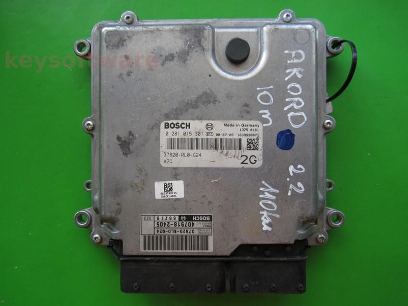 ECU Honda Accord 2.2CDTI 37820-RL0-G24 0281015301 EDC17CP06