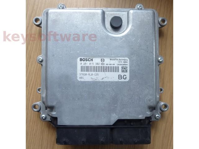 ECU Honda Accord 2.2CDTI 37820-RL0-G35 0281015302 EDC17CP06 {