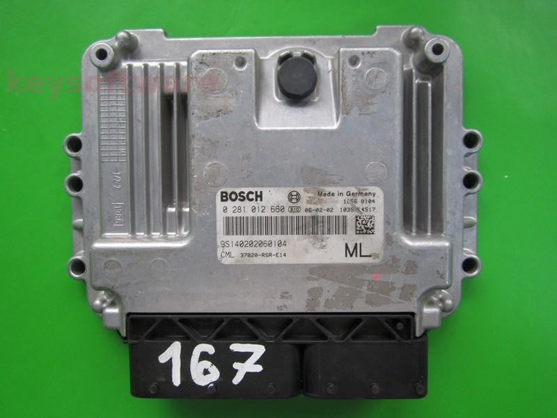 ECU Honda Civic 2.2 37820-RSR-E14 0281012660 EDC16C7 {