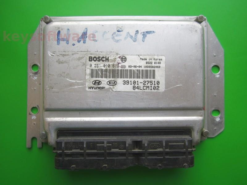 ECU Hyundai Accent 1.5CRDI 39101-27510 0281010619 EDC15C7 }