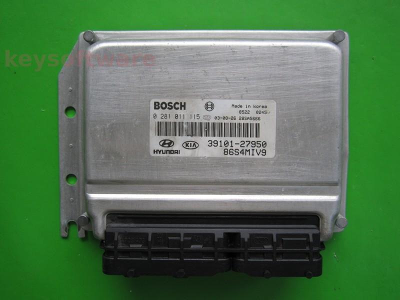 ECU Hyundai Santa Fe 2.0CRDI 39101-27950 0281011115 EDC15C7