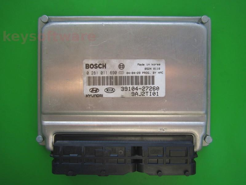 ECU Hyundai Tucson 2.0CRDI 39104-27260 0281011690 EDC15C7 {