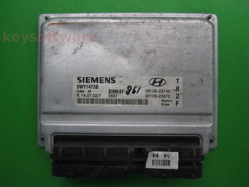 ECU Hyundai Matrix 1.8 39105-23740 5WY1473B SIMK41