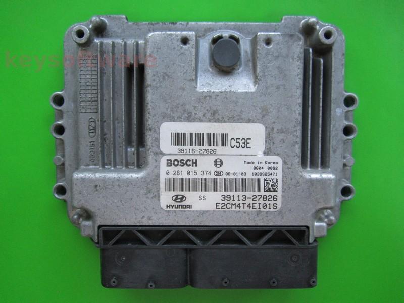 ECU Hyundai Santa Fe 2.2CRDI 39113-27286 0281015374 EDC16C39