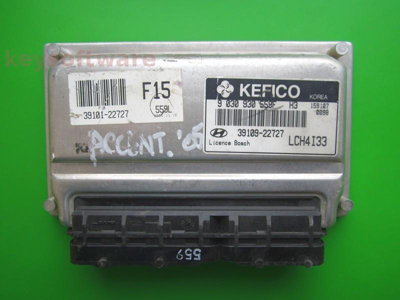 ECU Hyundai Accent 1.3 39109-22727 9030930559F M7.9.0
