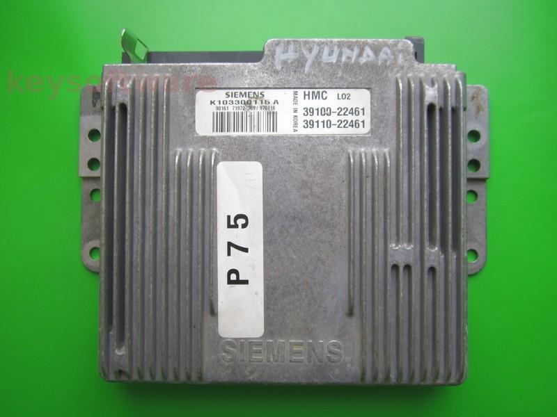 ECU Hyundai Accent 1.3 39100-22461 K103300115A