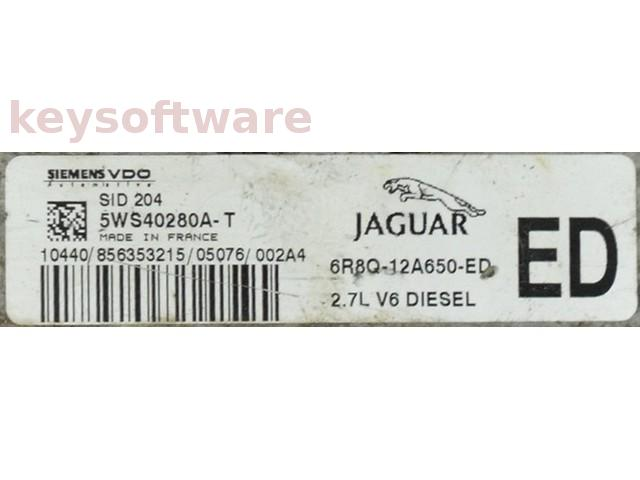 ECU Jaguar S-Type 2.7L 6R8Q-12A650-ED SID204 {