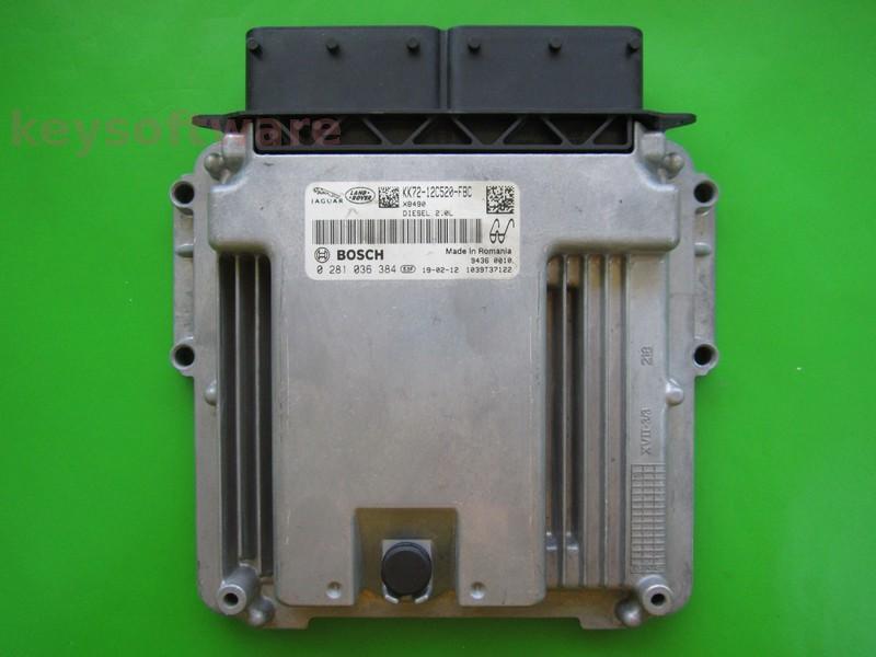 ECU Jaguar 2.0 KK72-12C520-FBC 0281036384