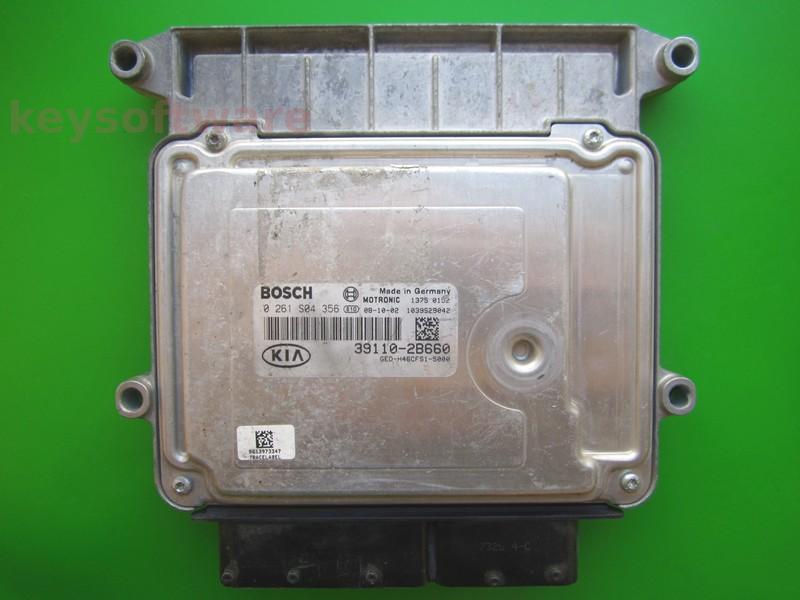 ECU Kia Ceed 1.6 39110-2B660 0261S04356 M7.9.8 G4FC