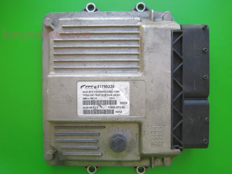 ECU Lancia Y 1.3JTD 51795235 6F3.Y2