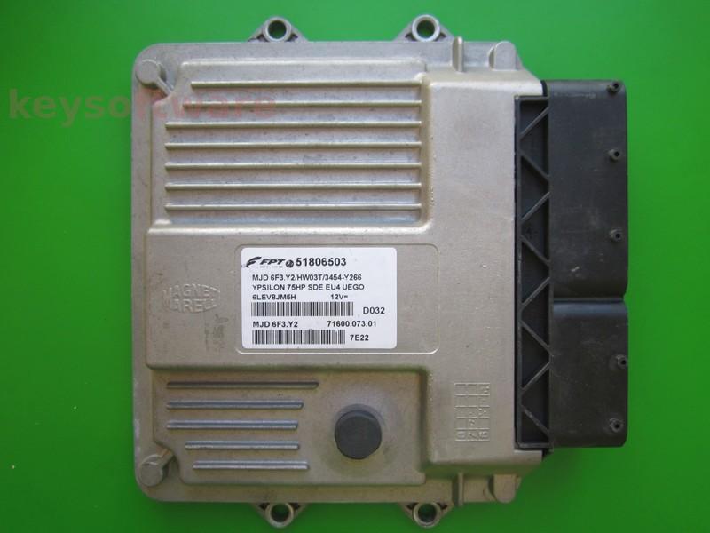 ECU Lancia Y 1.3JTD 51806503 6F3.Y2