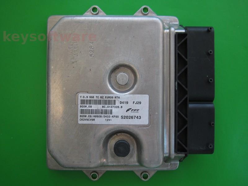 ECU Lancia Y 0.9 52026743 8GSW.E8 EURO6