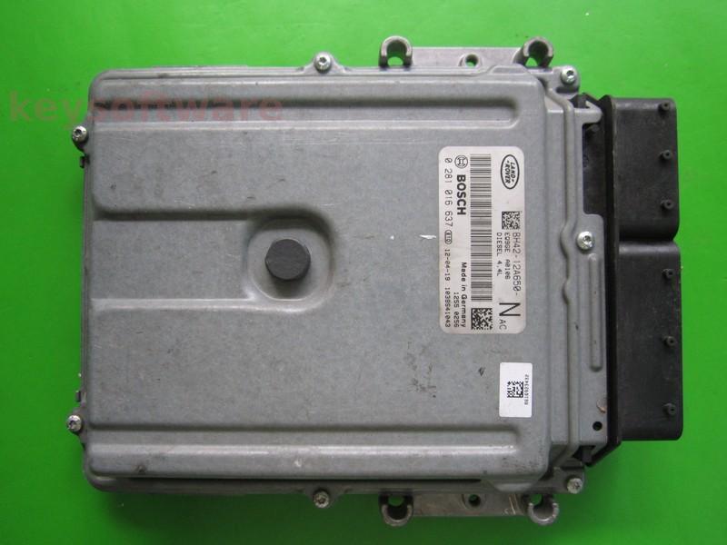ECU Land Rover 4.4TD BH42-12A650-NAC 0281016637 EDC17CP11 {