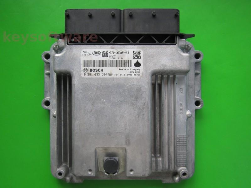 ECU Land Rover Evoque 2.0TD HX73-12C520-FFB MEDC17.9