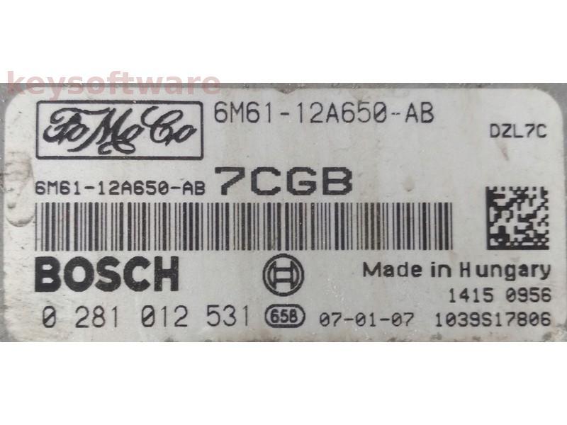 ECU Mazda 3 1.6 6M61-12A650-AB 0281012531 EDC16C34 {